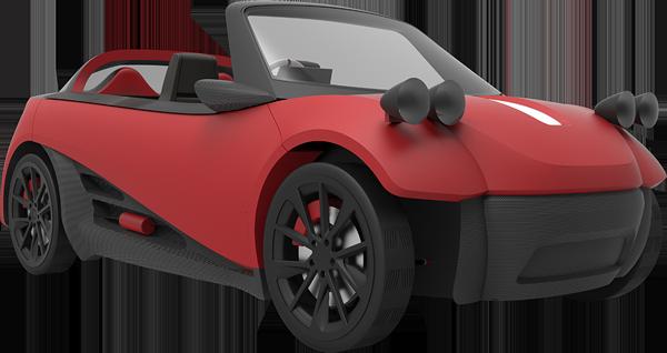 coche electrico 3D